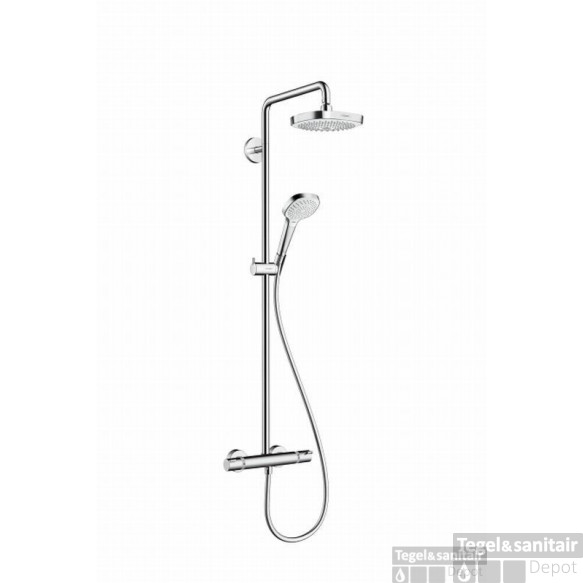 Hansgrohe Croma Select E 180 2jet Showerpipe Chroom