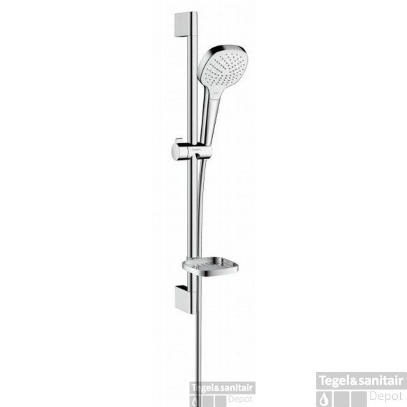 Hansgrohe Croma Select E Vario Unica Glijstangset 65 Cm. Casetta Chroom-wit