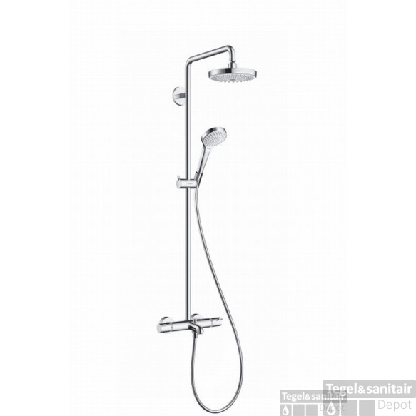 Hansgrohe Croma Select S 180 2jet Showerpipe Voor Bad Chroom-wit