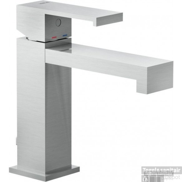 B&w-luxury Angusti Wastafelkraan Met Click Waste Brushed Nickel
