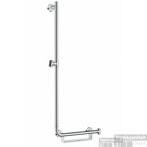 Hansgrohe  Unica Comfort Glijstang 110 Links Met Greep Rechts Chroom-wit