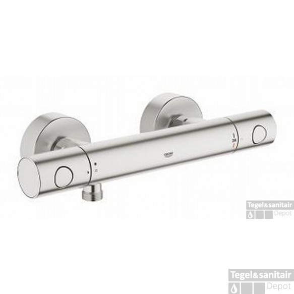 Grohe Grohtherm 1000 Cosm.m Douchethermostaat Supersteel