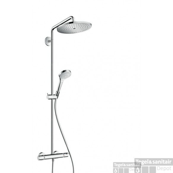 Hansgrohe Croma Select S 280 Showerpipe Met Thermostaat Ecosmart Chroom