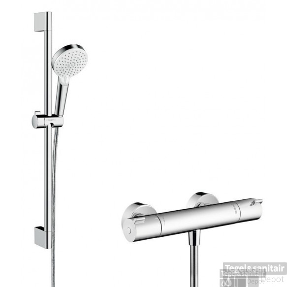 Hansgrohe Ecostat 1001cl Thermostaat+stang 65 M/crometta Vario Handd Wit-chroom