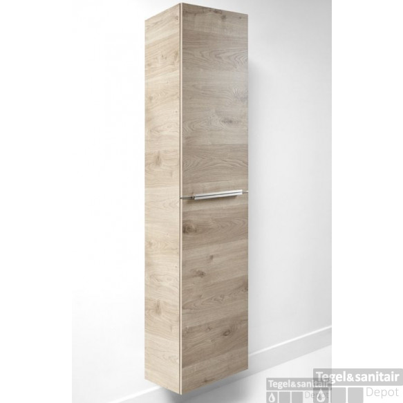 B&w-luxury Libero Kast Hoog 35x35.5x172 Cm. Structure Nature