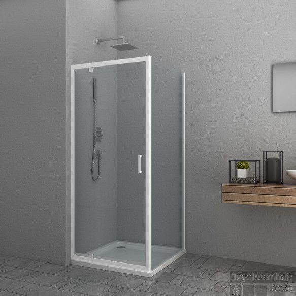 Douchecabine Allibert Happy 80x80x185 cm 4mm Helder Glas Wit