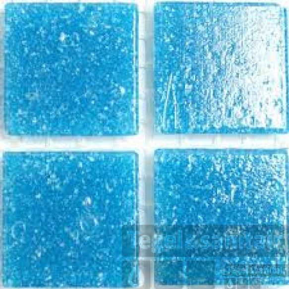 Mozaiek single colour 2x2 mesh a14 turquoise per stuk