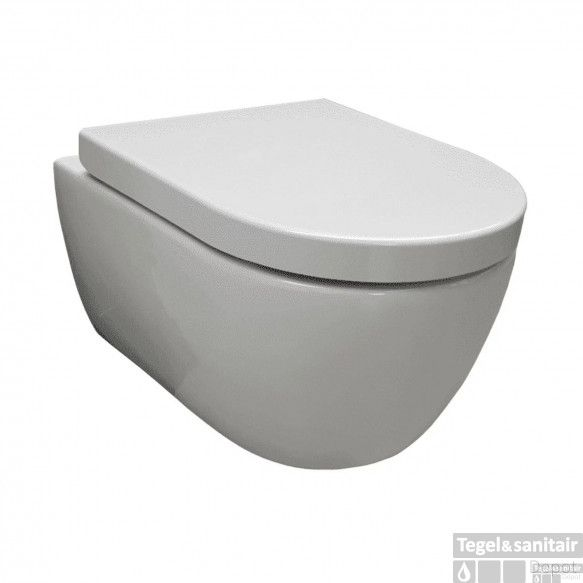 Hangtoilet Sanilux Easy Flush Compact Randloos 48cm (incl. zitting)