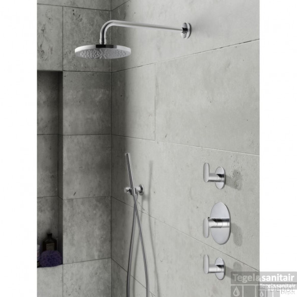 Complete thermostatische douche Inbouwset Hotbath Friendo Chroom