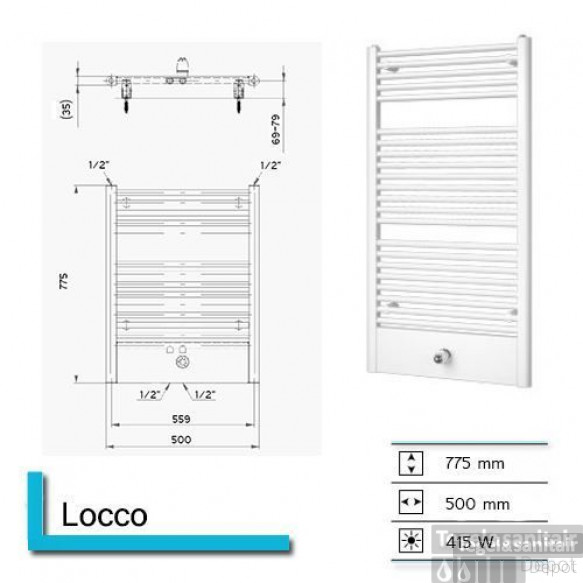 Designradiator Boss & Wessing Locco 775 x 600 mm (13 kleuren)