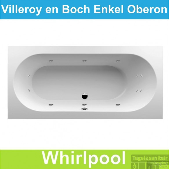 ligbad villeroy boch oberon 190x90 cm balboa whirlpool. Black Bedroom Furniture Sets. Home Design Ideas