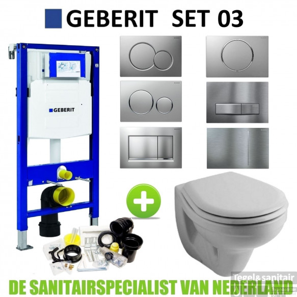 Geberit UP320 Toiletset set03 Sphinx Econ 2.0 met Sigma drukplaat