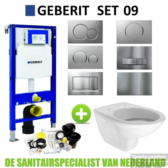 Geberit UP320 Toiletset set09 Boss & Wessing Brussel met Sigma Drukplaat