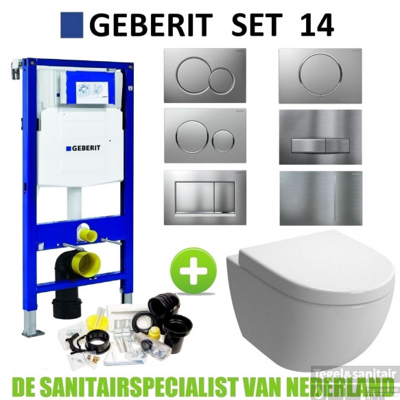 Geberit UP320 Toiletset set14 Boss & Wessing Zero met Sigma drukplaat