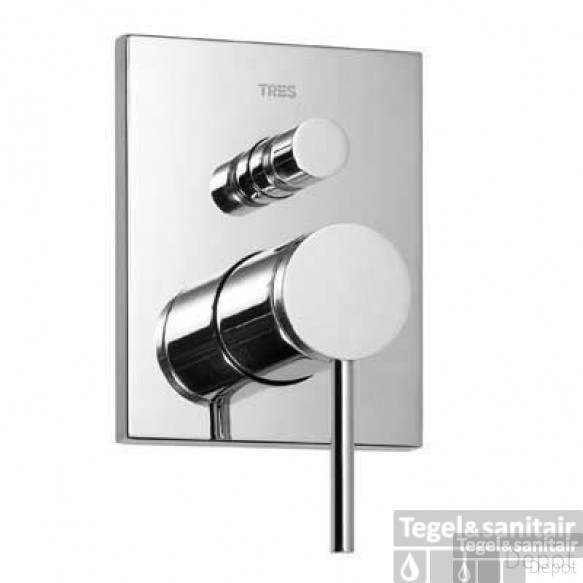 Tres Mono-Term inbouw doucheset thermostatisch chroom 20118001