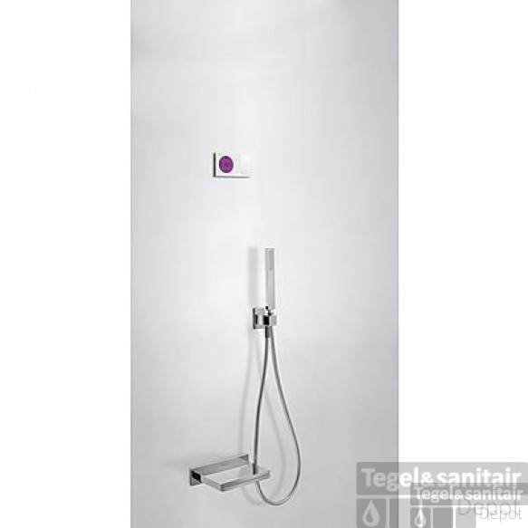 Tres electronische digitale bad inbouwthermostaat met handdouche en baduitloop chroom 09286553