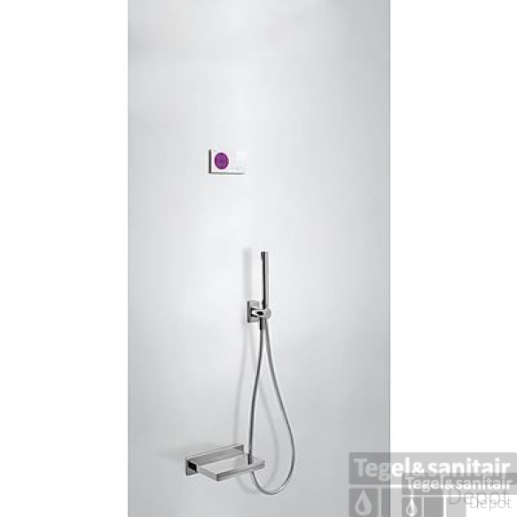 Tres electronische digitale bad inbouwthermostaat met handdouche en baduitloop chroom 09286556