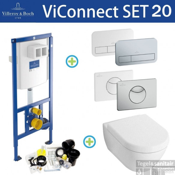 Villeroy & Boch ViConnect Toiletset set20 Subway 2.0