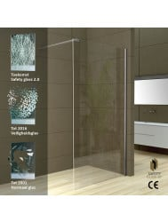 Wiesbaden Safety Glass 2.0 inloopdouche + muurprofiel 1200x2000 10mm NANO glas