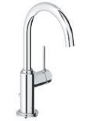 Grohe Atrio One Wastafelkraan Met C-uitloop Chroom
