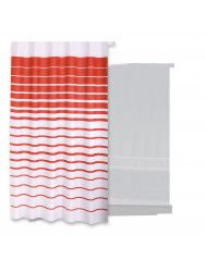 Douchegordijn Differnz Lineae Polyester 180x200 cm Rood