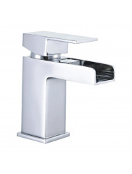Wastafelkraan Best Design Spout Waterval Chroom | Tegeldepot.nl
