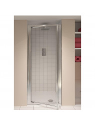 AQX AQUA4 Pivot Door Silver Clear 760* 1850mm 4mm