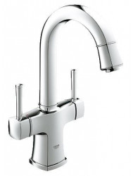 Grohe Grandera 2-greeps Wastafelkraan Hoog Model Met Waste Chroom