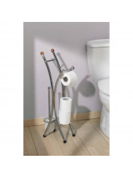 Toiletrolhouder Set Allibert Corfou Hout / Chroom
