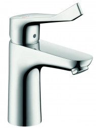 Hansgrohe Focus Care 100 Coolstart Wastafelkraan Zonder Waste Chroom