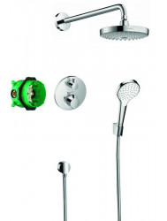 Hansgrohe Croma Select S Showerset Compleet Met Ecostat S Thermostaat Chroom