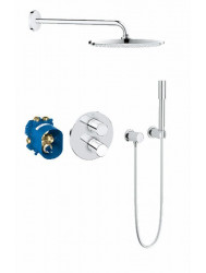 Grohe Grohtherm 3000 New Inbouw Comfortset Rond Compleet Chroom