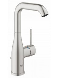 Grohe Essence New L-size Wastafelkraan Met Waste Supersteel
