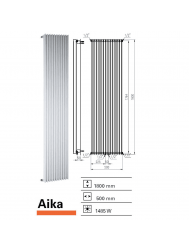 Designradiator Boss & Wessing Aika 1800 x 500 mm  | Tegeldepot.nl