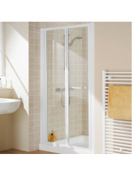 AQX AQUA4 Bi-Fold Door White Clear 760* 1850mm 4mm