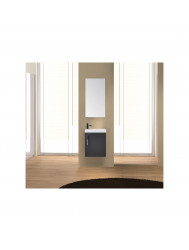 Fonteinkast Sanicare Q40 Hoogglans Grey-Wood (spiegel optioneel)
