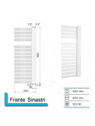 Handdoekradiator Boss & Wessing Franto Sinistro 1610 x 600 mm