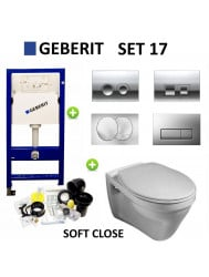 Geberit  up100 set17 Gustavsberg Saval met Delta drukplaten
