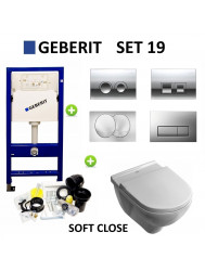 Geberit up100 set19 O.novo DirectFlush met Delta drukplaten