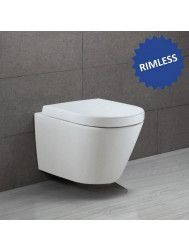 Hangtoilet Alterna Opus 2 Rimless Keramiek 3M coating Softclose zitting met TakeOff GA47183-56159