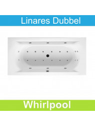 Whirlpool Riho Linares 180 x 80 cm Mat Wit Dubbel systeem