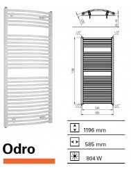 Designradiator Boss & Wessing Odro gebogen 1196 x 585 mm