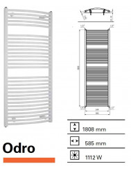 Designradiator Boss & Wessing Odro gebogen 1808 x 585 mm