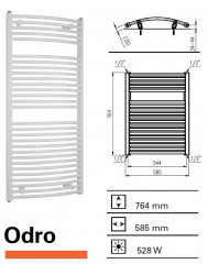 Designradiator Boss & Wessing Odro gebogen 764 x 585 mm