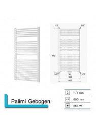 Designradiator Boss & Wessing Palimi Gebogen 1175 x 600 mm