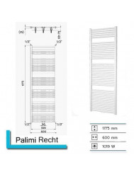Designradiator Boss & Wessing Palimi Recht 1775 x 600 mm