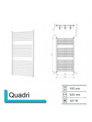 Handdoekradiator Quadri 1135 x 600 mm Wit