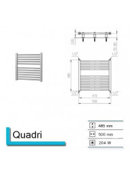 Handdoekradiator Quadri 485 x 500 mm Wit