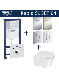 Grohe Rapid SL Toiletset set04 Calitri Urby Compact met Grohe Arena of Skate drukplaat