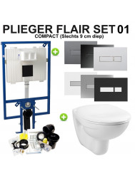 Plieger Flair Compact Toiletset set01 Boss & Wessing Basic Smart met DF Flair drukplaat